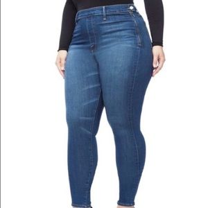Good American Side Zip Skinny Jeans High Rise